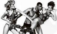 Doutzen Kroes & Adriana Lima by Mario Testino (Battle Lines - V #76 Spring 2012) 2